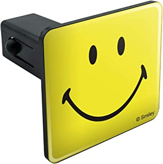 Graphics and More Smiley Smile Happy Yellow Face Tow Trailer Hitch Cover Plug Insert
