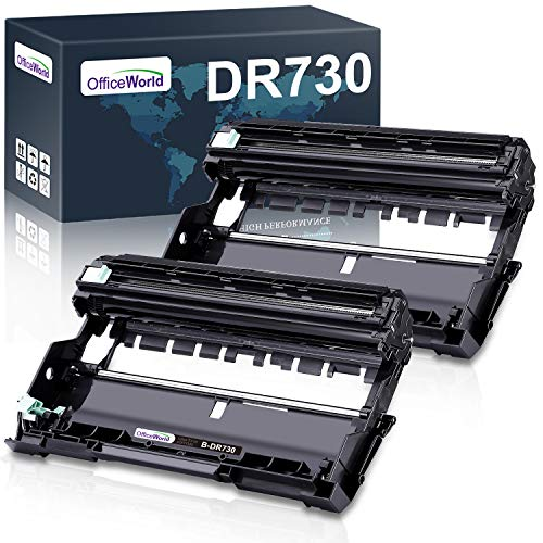 OfficeWorld Compatible Drum Unit Replacement for Brother DR730 DR-730 DR 730 for MFC-L2710DW HL-L2395DW HL-L2370DW HL-L2350DW DCP-L2550DW MFC-L2750DW HL-L2390DW (2 x Drum Unit, NOT Include Toner)