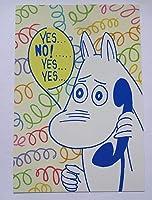 ムーミンのポストカード(1枚)電話ムーミンはがきトーベヤンソン