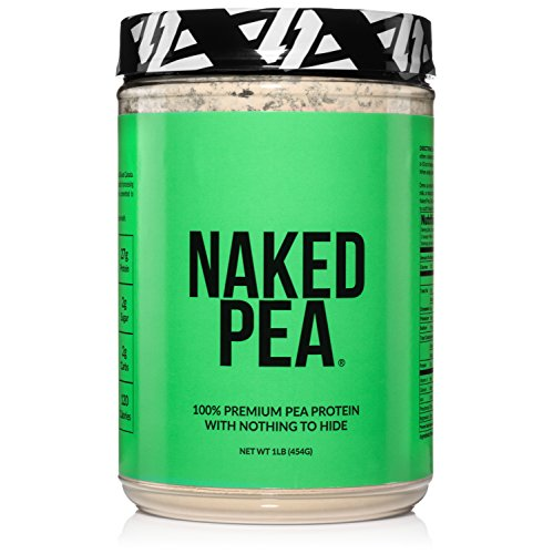 Naked Pea 1LB Pea Protein Isolate from North American Farms - Plant Based, Vegetarian & Vegan Protein. Easy to Digest - Speeds Muscle Recovery - Non-GMO- Lactose, Soy and Gluten Free - 15 Servings