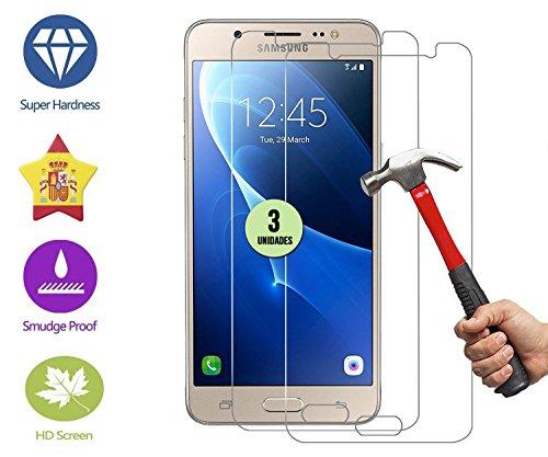 im77r 3 Unidades DE Protector DE Pantalla Premium Cristal Vidrio Templado 9H para Samsung Galaxy J5 2016