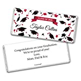 Personalized Graduation Class of 2020 Chocolate Bar Wrappers - Red (25 Wrappers)