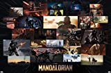 Trends International Star Wars: The Mandalorian - Credit Illustrations Wall Poster, 22.375' x 34', Premium Unframed Version