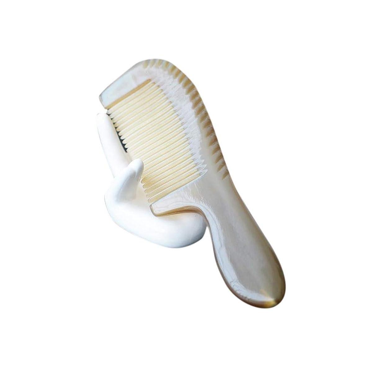 モネ応援する強いナチュラルバッファローホーン櫛帯電防止ファイン歯の櫛(ノースタティック、ノーもつれ) ヘアケア (色 : Photo color)
