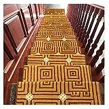 Alfombras de escalera Peldaños para Escaleras Alfombra 24x65cm 14mm Alfombras De Paso Alfombra Antideslizante Protección Almohadillas De Múltiples Colores (Color : C, Size : 1 Piece Set)