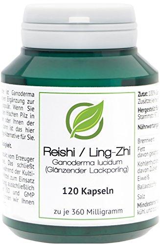 psoriasisEX - Reishi - Ganoderma lucidum (corpo fruttifero) in barattolo salva aroma 120 Capsule (360 mg)