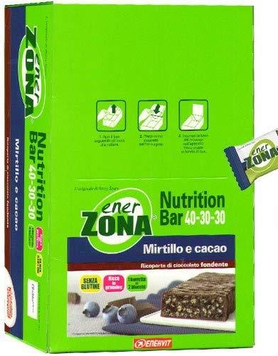 enerZONA bar Nutrition mirtillo e cacao box da 25