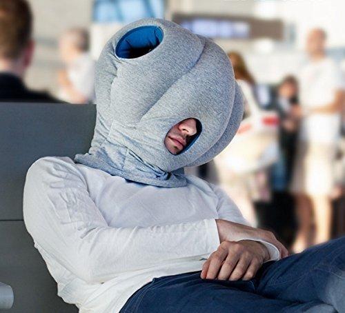 Reisekissen Einschlafhilfe Kopfkissen der besonderen Art - Tiefer Schlaf überall und zu jederzeit - Kissen im Alien Design - Gadget Reisekissen