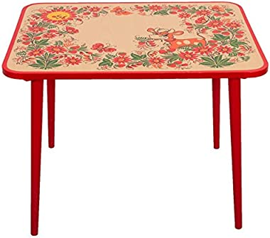 Little Cow Khokhloma Wooden Children's Table Red