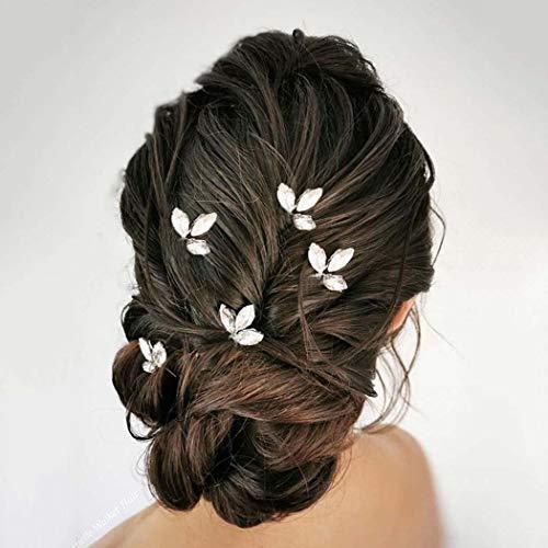 Mayelia Forcine per capelli da sposa Accessori per capelli da sposa in cristallo dorato Copricapo Spille per Capelli per donne e ragazze