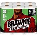 12 Triple Rolls of Brawny Flex Paper Towels