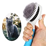 itPlus Cat Grooming Brush, Self Cleaning Slicker Brushes for Dogs Cats Pet Grooming Brush Tool Gently Removes Loose Undercoat, Mats Tangled Hair Slicker Brush for Pet Massage-Self Cleaning