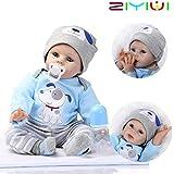 ZIYIUI Reborn Baby Puppe 22''/55cm Lebensecht Weiches Silikon Vinyl Handgemachte Reborn Baby Junge Neugeborenes Reborn Toddlers Junge Mädchen Spielzeug Weihnachts Geschenk