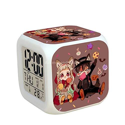 fdgdfgd Anime Guapo protagonista Masculino 3D Personaje Divertido Dormitorio decoración número con termómetro Fecha Reloj Cuadrado