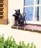 Antikas | Schmusende Katzen | Deko Figuren | wunderbar als Fensterdekoration