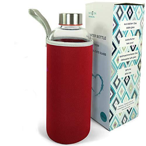 Wenburg Wolton Botella de Vidrio 550 ml / 750 ml + Cepillo d