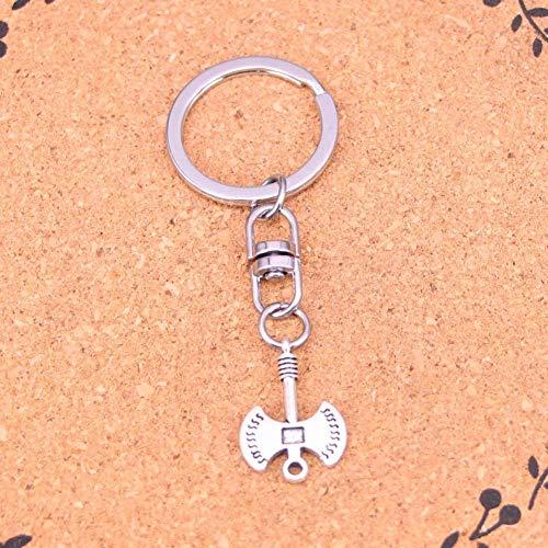 DdA8yonH Schlüsselbund Silberfarbenes Metall Vintage Axt Axt Schlüsselanhänger Zubehör & verchromte Schlüsselanhänger