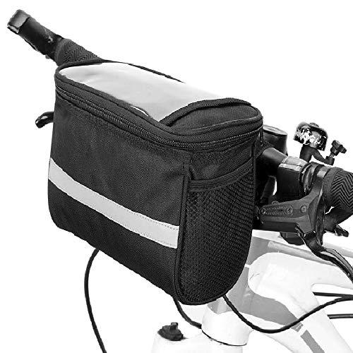 Lixada Bicycle Basket Bike Front Basket Bicycle Insulated Front Bag MTB Bike Handlebar Bag Basket Pannier Cooler Bag with Reflective Strip