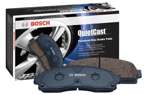 Bosch BP919 QuietCast Premium Semi-Metallic Disc Brake Pad Set For Select Bentley; BMW (I, Ci, Li) 535, 545, 550, 645, 650, 745, 750, 760, ActiveHybrid 7, Alpina B7, M3, M5, M6, X5, X6; Rear