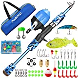 ODDSPRO Kids Fishing Pole, Portable Telescopic Fishing Rod and Reel Combo Kit - with Spincast Fishing Reel Tackle Box...