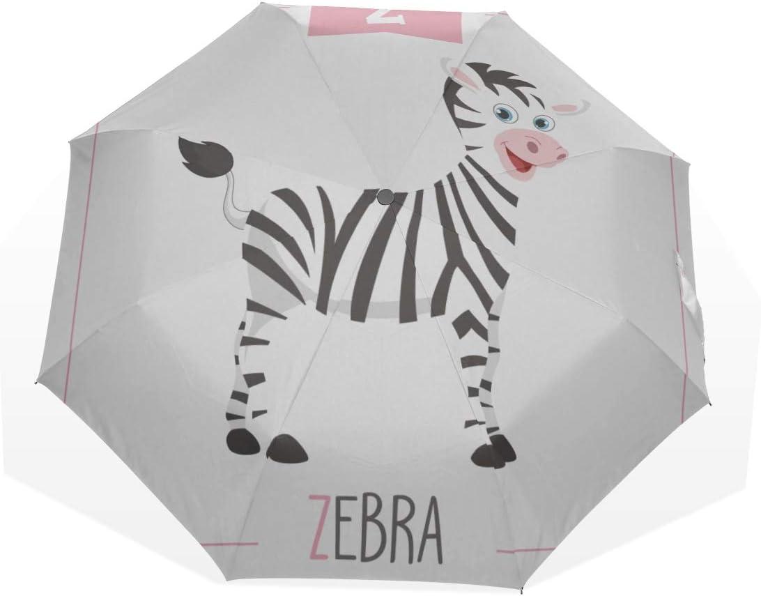 Travel Umbrella Sturdy Zebra Cartoon Industry No. 1 online shop Umb Windproof Forest Animal