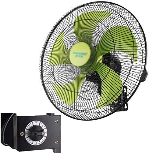 VIVOCC Montado en la Pared de la Pared del Ventilador eléctrico del Ventilador silencioso oscilante (3 Velocidad) Aire mecánica Ventilador de refrigeración for Industrial, Comercial y residencial