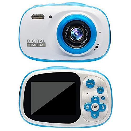 TDOYO Cámara Impermeable para niños, Digital Mini Cámara con Zoom Digital de 4X / 8MP / 2' TFT LCD/32 GB Micro SD, cámara Infantil Impermeable 3m,Blue