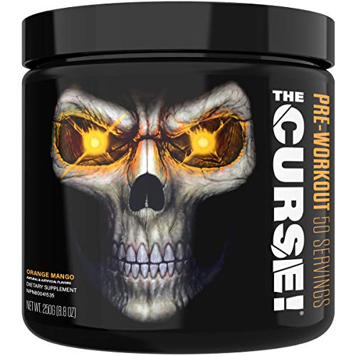 JNX Sports The Curse! Pre Workout Supplement - Intense Energy & Focus, Instant Strength Gains, Enhanced Blood Flow - Nitric Oxide Booster with Creatine & Caffeine - Men & Women | Orange Mango | 50 Srv