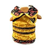 NACOCO Dog Emperor Costumes for Spring Festival Christmas Pet King Apparel in Ancient Imperial Style Cat Chinese Traditional Tang Suit French Bulldog King Cosplay Coat (King, S)