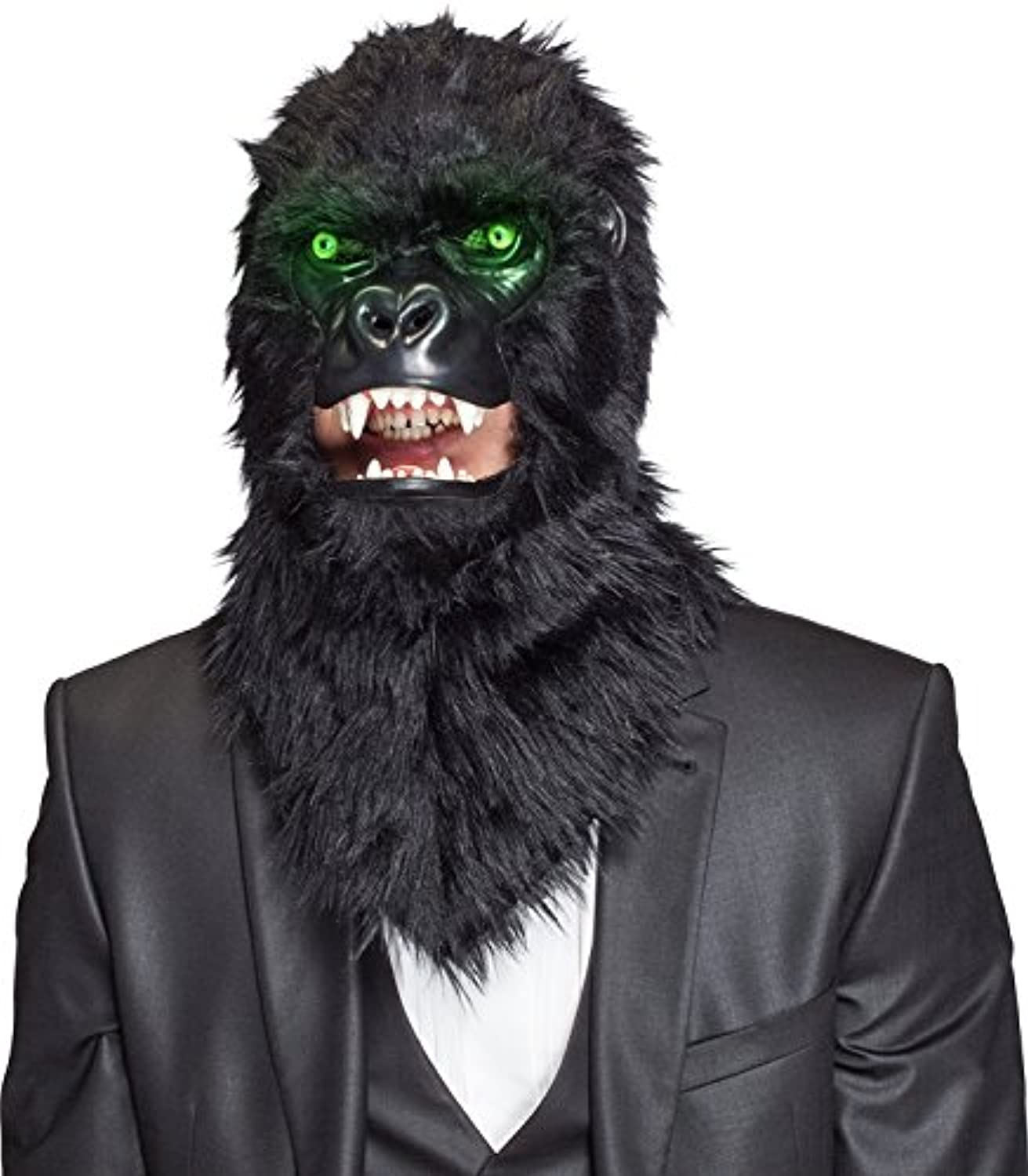 Gorilla mask  movable mask with light