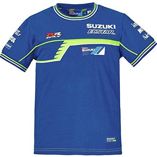 SUZUKI MotoGP Kids kurzarm Kinder T-Shirt ! blau neon gelb (S=5/6 Jahre)