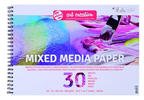 Talens Art Creation – Mix Media Papier A3 300 g, 30 Feuilles, FSC