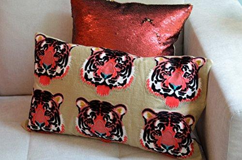 PAD - kussenhoes, kussens, sierkussen - Simba, tijger - 35 x 60 cm - zonder vulling