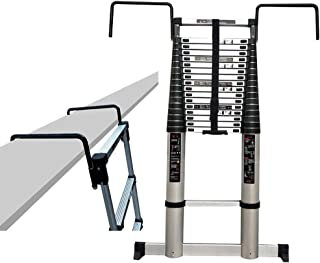 Panthem 2,6 m, 3,2 m, 3,8 m, 5 m, aluminio, extensible, con 1 par de guantes, capacidad de 150 kg Escalera telesc/ópica