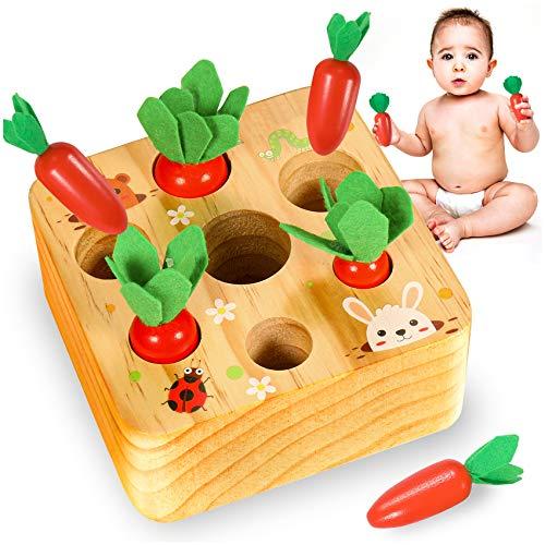 YOFUN Montessori Toysfor Toddler- Carrot Harvest Wooden Matching...