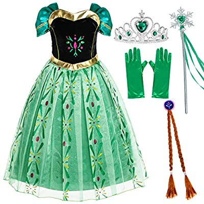Party Chili Princess Costumes Birthday Party Fancy Dress Up for Little Girls 2T 3T (100cm)