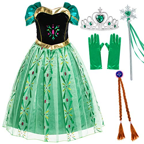 Party Chili Princess Costumes Birthday Party Fancy Dress Up for Little Girls 10-12 Years (150cm)