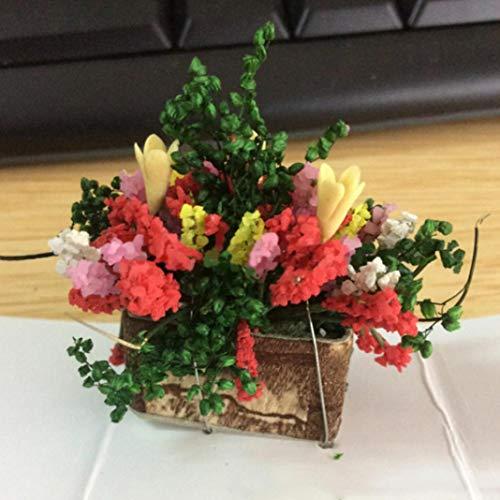 Accesorio para casa de muñecas, 1/12 Mini imitación de arcilla flor planta Bonsai modelo decoración de casa de muñecas