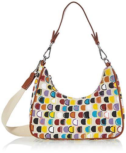 Desigual Fabric Shoulder Bag, Borsa a Tracolla. Donna, Bianco, U