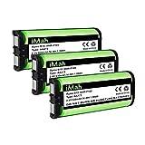 3-Pack iMah HHR-P105 Cordless Phone Battery Compatible with Panasonic HHR-P105A KX-TG5777 KX-TGA242 KX-TGA571 (Type 31) Home Handset Telephone