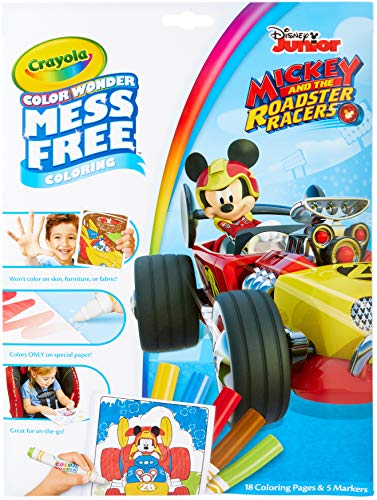 CRAYOLA Färgad PAD & MARKR, Musse Pigg Roadster Racers, en storlek