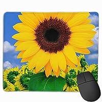 花柄 ヒマワリ マウスパッド 運びやすい オフィス 家 最適 おしゃれ 耐久性 滑り止めゴム底付き 快適操作性 30*25*0.3cm