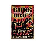 KEMS Guns N Roses 1987 Konzertposter auf Leinwand, Poster,