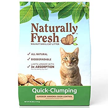 Naturally Fresh Cat Litter - Walnut-Based Quick-Clumping Kitty Litter Unscented  26 lb  23001