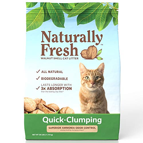 Naturally Fresh Cat Litter - Walnut-Based Quick-Clumping Kitty Litter, Unscented , 26 lb (23001)
