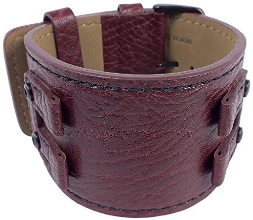 Bruno Banani   Ersatzband Unterlagenband Uhrenarmband Leder Band Bordeaux genarbt für Serie EOS EO4 BR20833