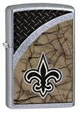 Zippo NFL New Orleans Saints Street Chrome Pocket Lighter