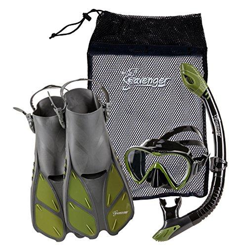 Seavenger Diving Dry Top Snorkel Set