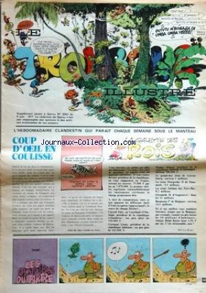 TROMBONE ILLUSTRE (LE) [No 2043] du 09/06/1977 - coup d'oeil en coulisse - la galette des rois les ouvriers du tartre par didge