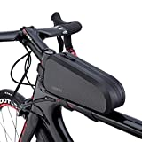 CXWXC Bike Accessories Top Tube Bag for Men Women - Mount Front Frame Bike Bags for Road/Mountain Bike - Waterproof Cycling Phone Pouch Bicycle Bag